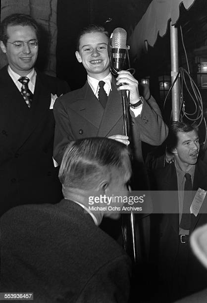 Young actor Roddy McDowall is interviewed in Los Angeles California