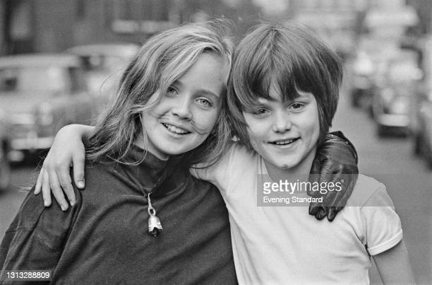 Young actors Lysette Anthony and Joshua Le Touzel, who are starring in a stage production of 'Pinocchio' in the West End of London, UK, 2nd November...