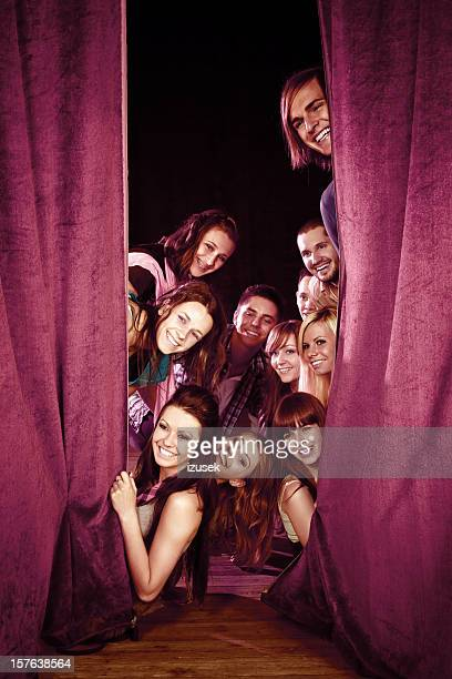 young actors on stage - actor stock pictures, royalty-free photos & images