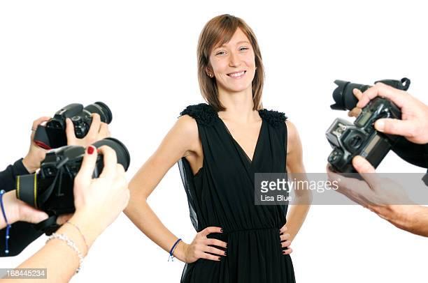 Young-Schauspielerin und Paparazzi Photographer