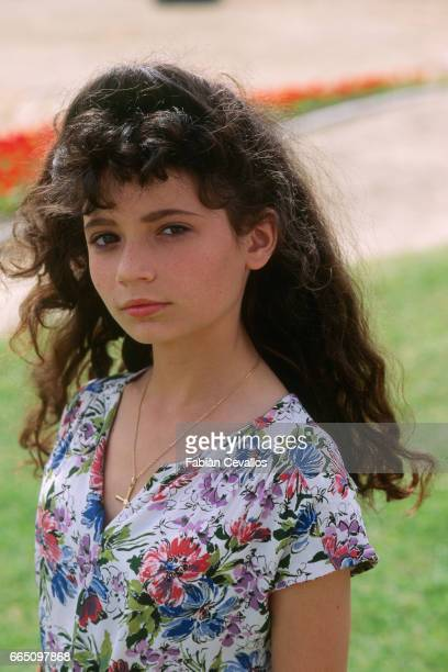 Young actress Salome Lelouch on the set of Les Miserables directed by Claude Lelouch and based on Victor Hugo's novel by the same title The film won...