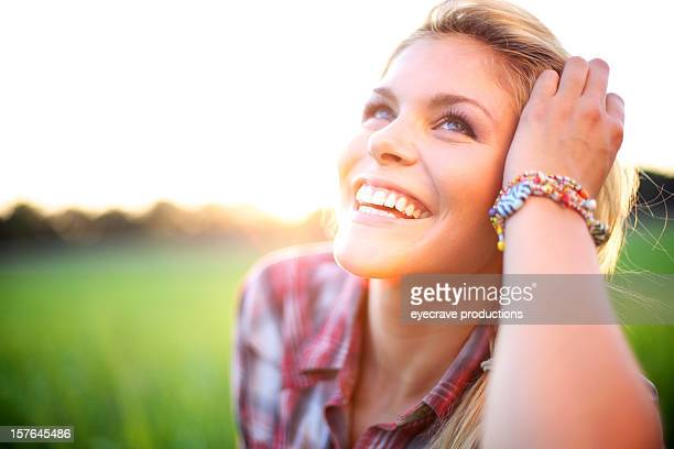 young adult attractive energetic outdoors female - eyecrave stock pictures, royalty-free photos & images