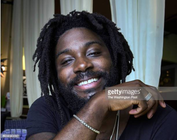 Young Adult author Jason Reynolds interviewed at Busboys Poets on August 2017 in Washington DC