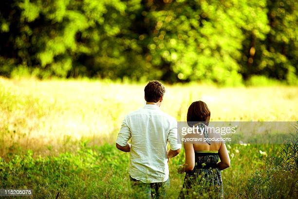 young adult couple outdoors