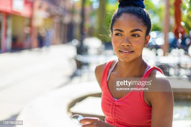young adult generation y african american female in western america small town photo series - eyecrave  stock pictures, royalty-free photos & images