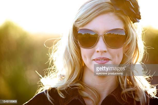 Young adult joyful female outdoors