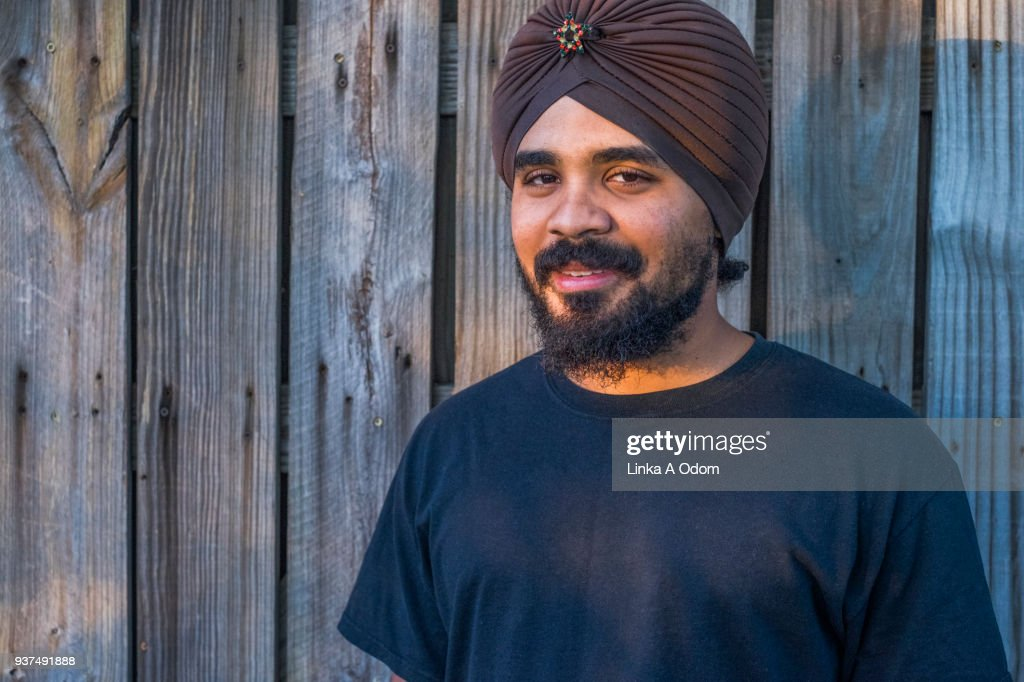 Young Adult Male wearing a Turban : Stock Photo
