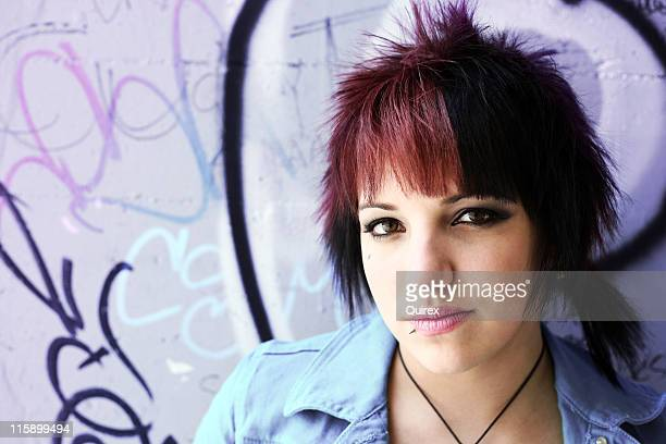 young adult - emo stock photos and pictures