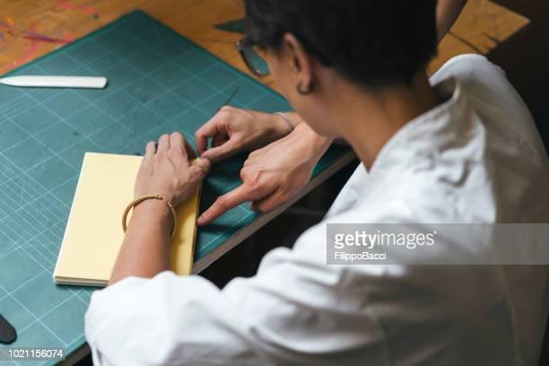 jovem mulher adulta, fazendo um notebook - texto datilografado - fotografias e filmes do acervo