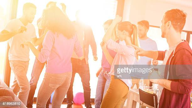 Young adults at a house party