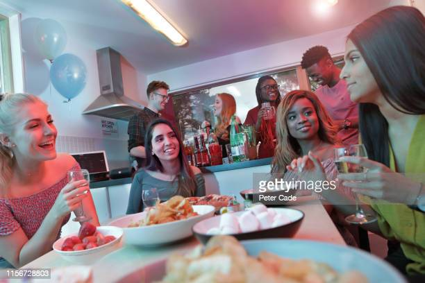 young adults at house party - occupation stock pictures, royalty-free photos & images