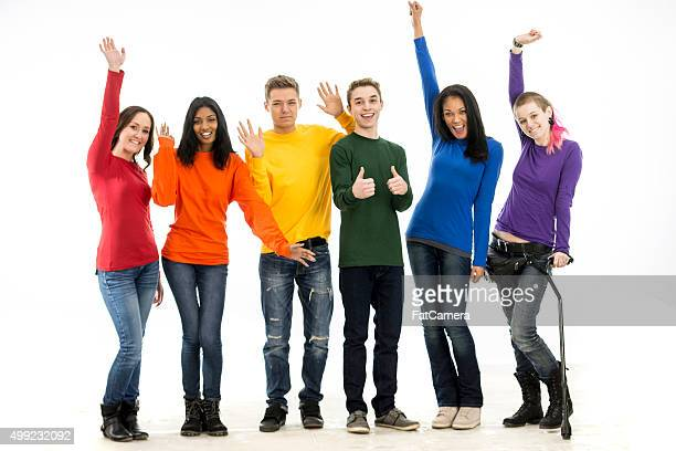 Young Adults Celebrating Gay Pride