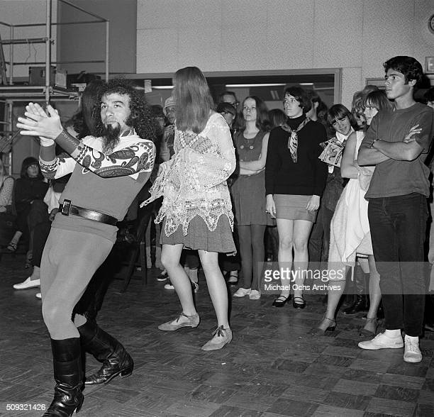 Young adults dance during a Frank Zappa Concert called a 'Freak Out' at Whisky a Go Go in Los AngelesCalifornia 'n