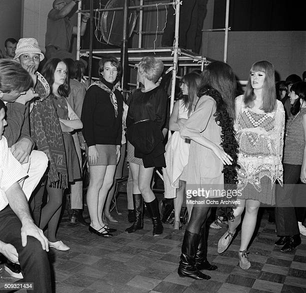 Young adults dance during a Frank Zappa Concert called a 'Freak Out' at Whisky a Go Go in Los AngelesCalifornia
