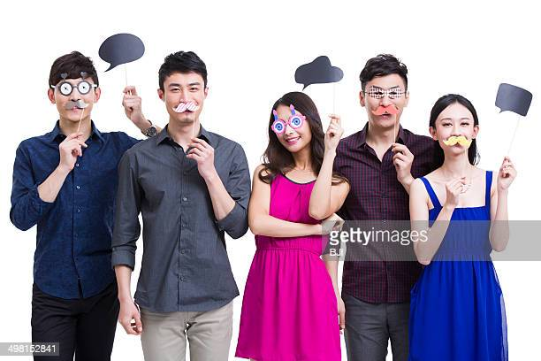 Young adults dressing up