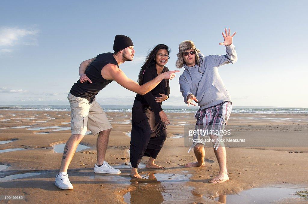 Young adults having fun : Stock Photo