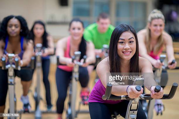 Young Adults in a Spin Class