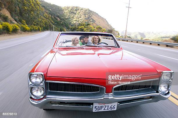 4 young adults in car - hayward california stock pictures, royalty-free photos & images