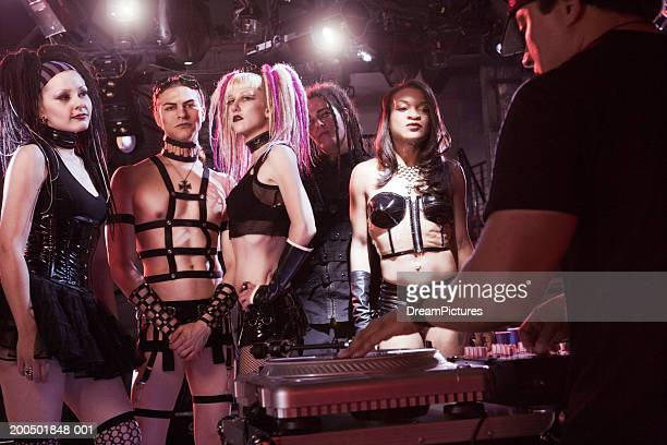 young adults on dancefloor in nightclub - fetisch stock-fotos und bilder