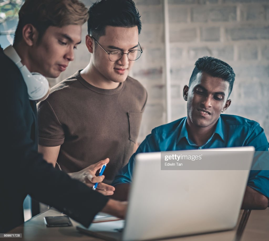 young adults study group : Stock Photo