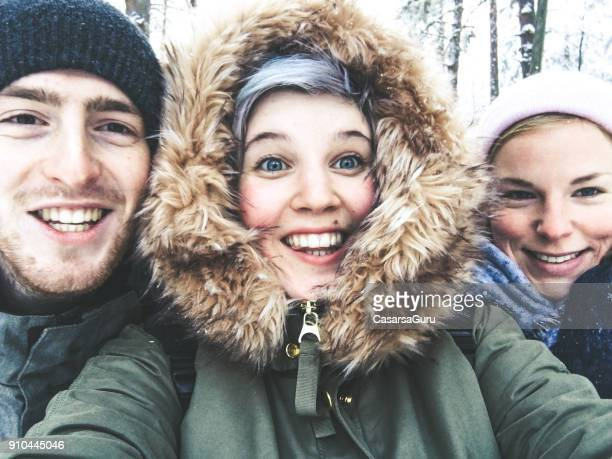 Young Adults Taking a Selfie in Tempere, Finland