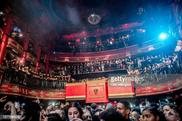 Young Adz and Dirtbike LB of D Block Europe preform onstage during a sold out show at KOKO on December 9, 2018 in London, England.