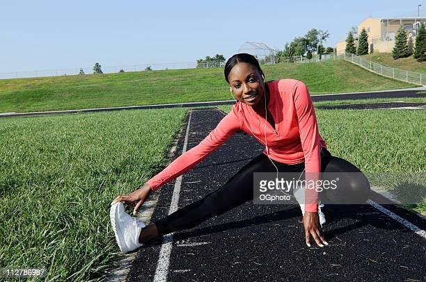 young african american woman exercising. - ogphoto bildbanksfoton och bilder
