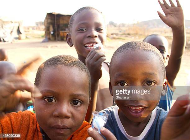 Young African boys of township Soweto in South Africa