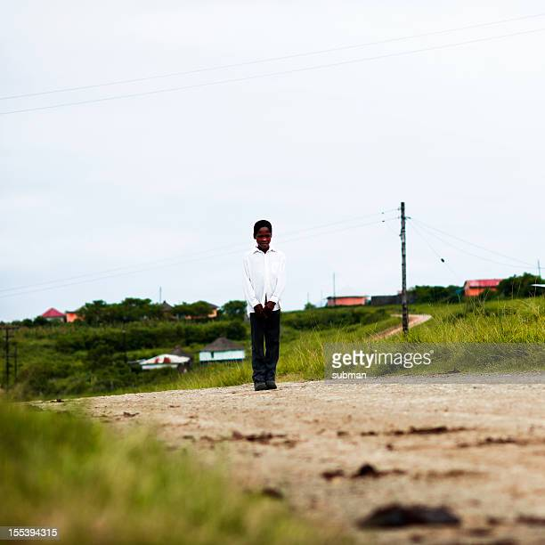 young african child with school clothes - eastern cape stock pictures, royalty-free photos & images