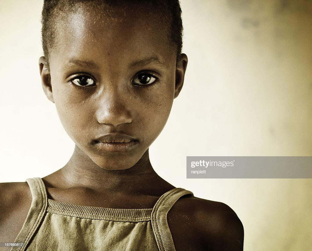 Young African Girl in an Orphanage : Stock Photo