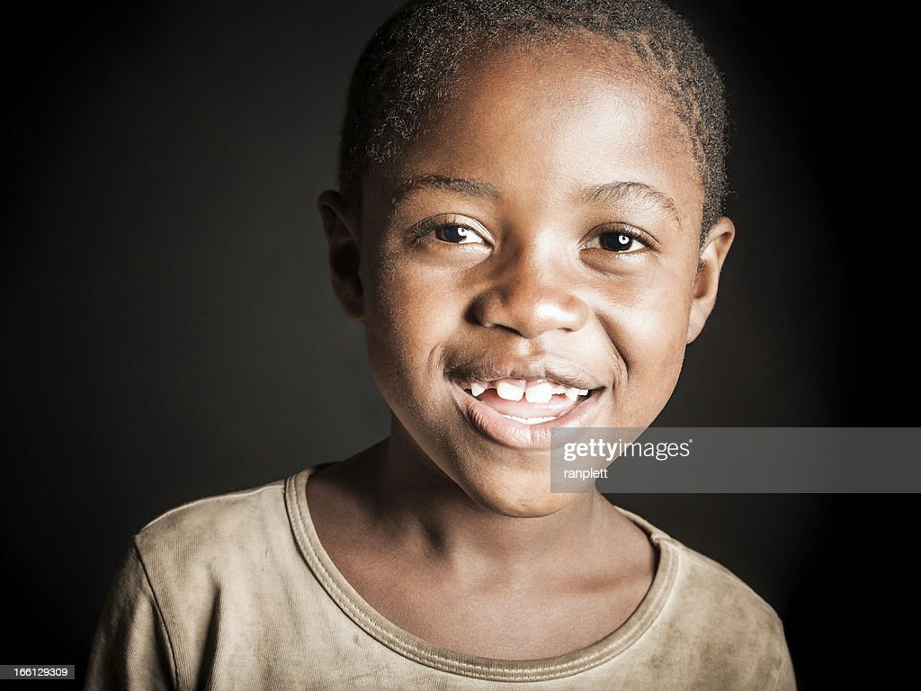 Young African Girl (Isolated on Black) : Stock Photo