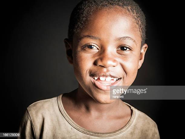 Young African Girl (Isolated on Black)