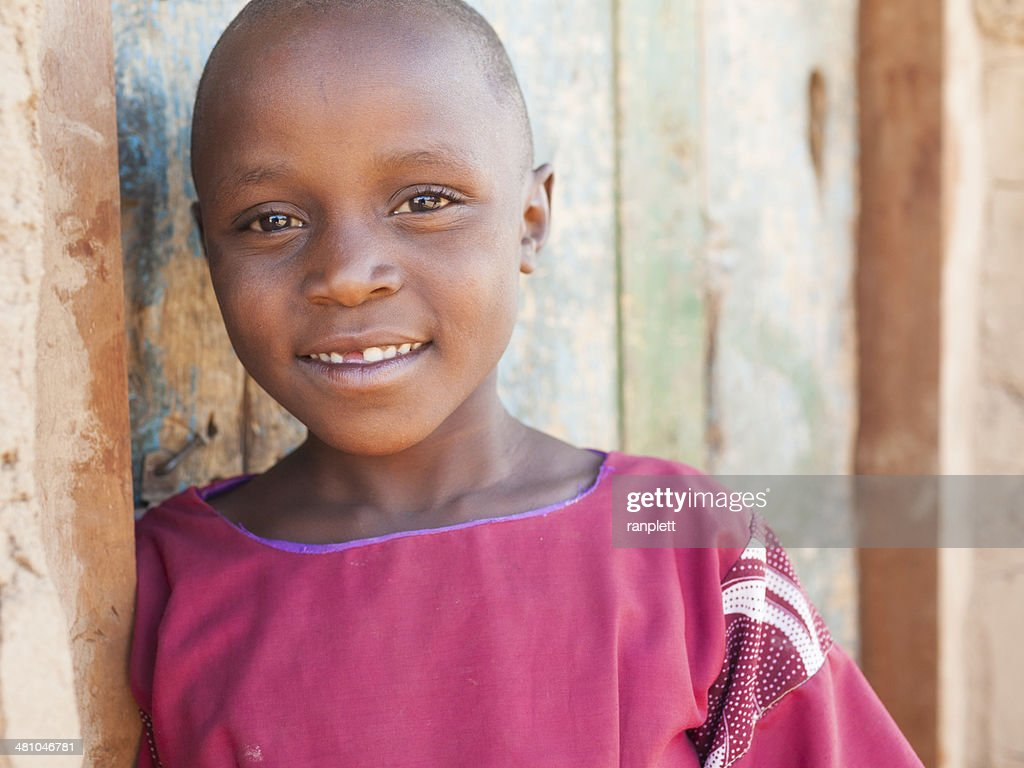 Young African Girl Smiling : Stock Photo