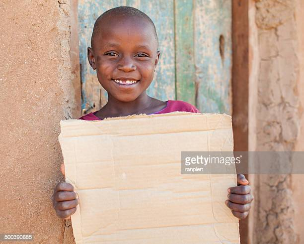 Young African Girl Smiling