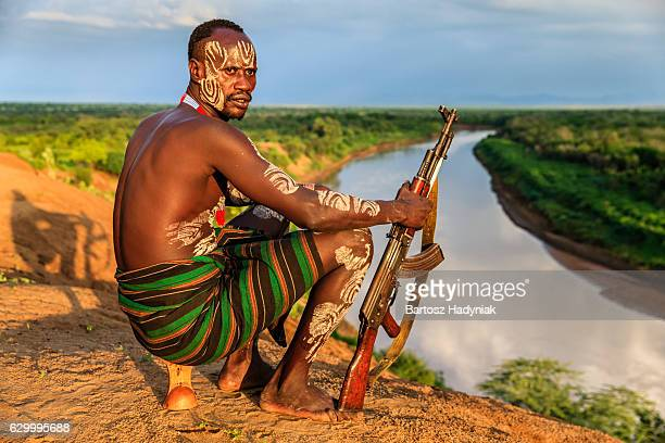 Young African man from Karo tribe, East Africa