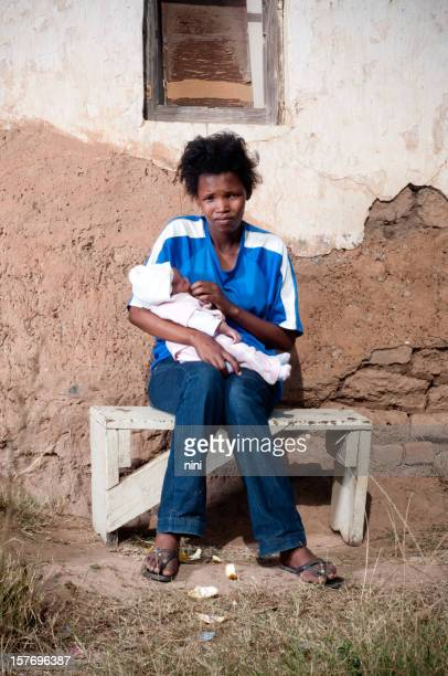 Young African mother with her baby