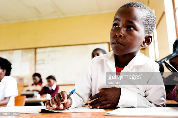 young african student in classroom - south african culture stock photos and pictures