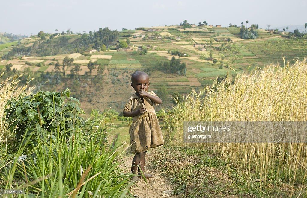tall green grass field. Young African Tending To The Fields Among Tall Grass : Stock Photo Green Field