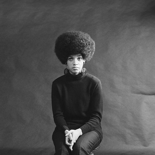 Young African-American Woman With Afro, Looking Sad. Wall Art