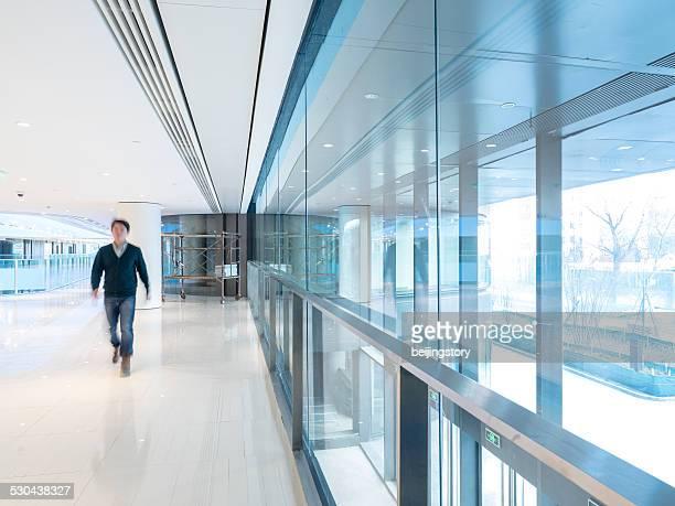 Young aisian businessman--blur motion