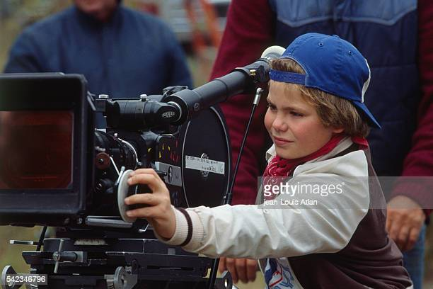 Young American actor Justin Henry on set of the movie Martin's Day directed by Alan Gibson