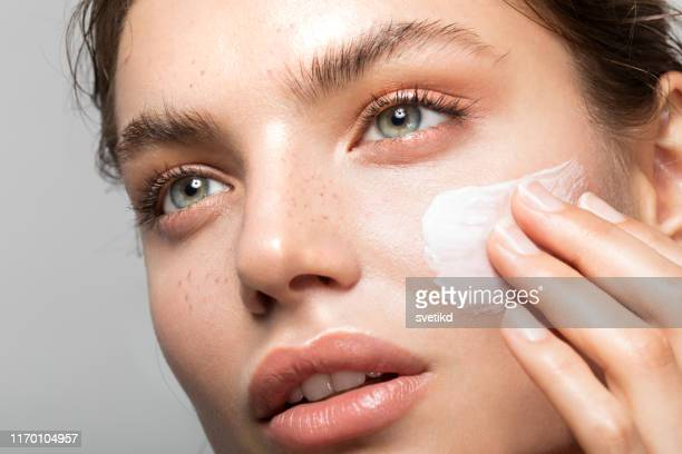 young and beautiful skin - beauty stock pictures, royalty-free photos & images