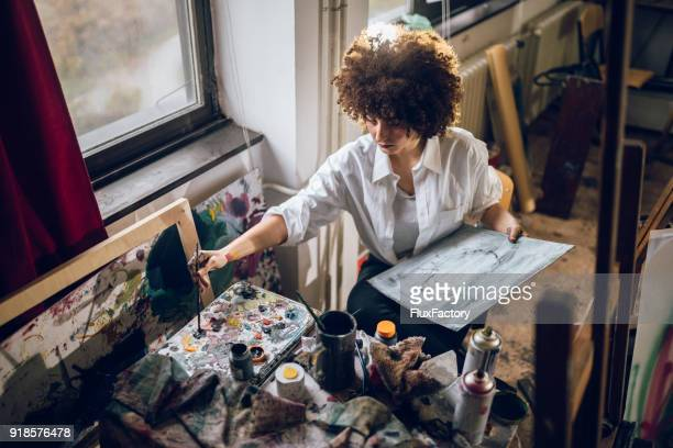 Young and gorgeous painter