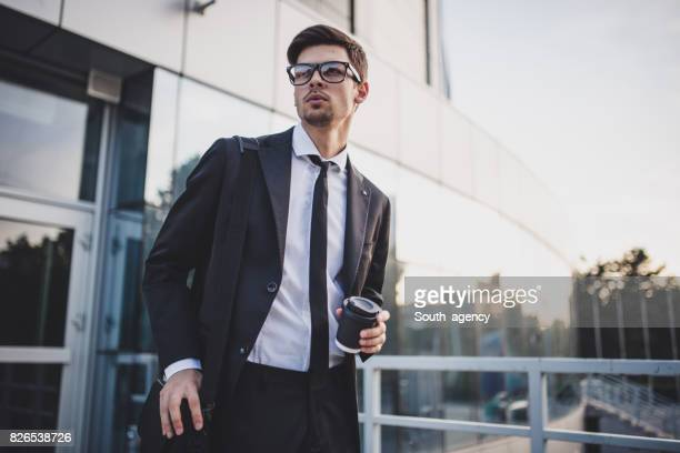 young and successful man - goatee stock pictures, royalty-free photos & images