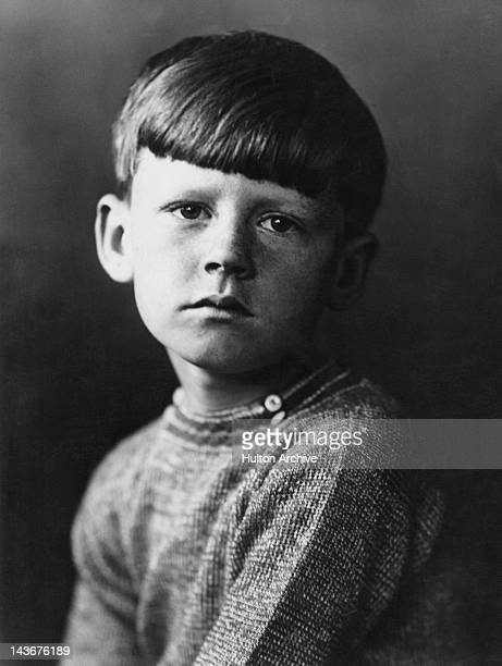Young Andrew Gardner presents a sorrowful demeanour July 1928