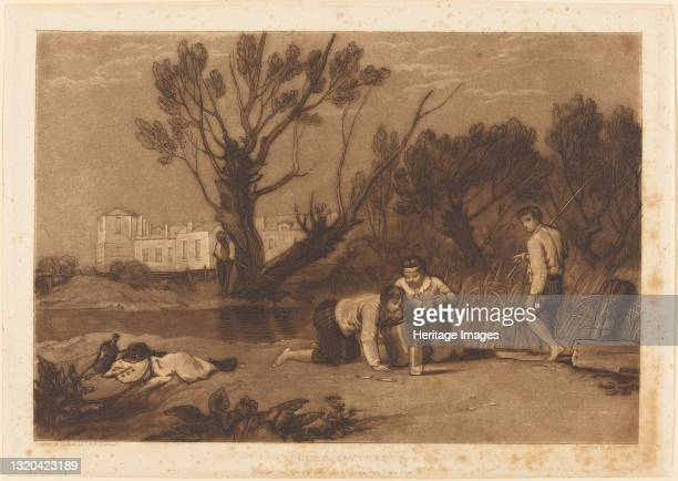 Young Anglers, published 1811. Artist JMW Turner.