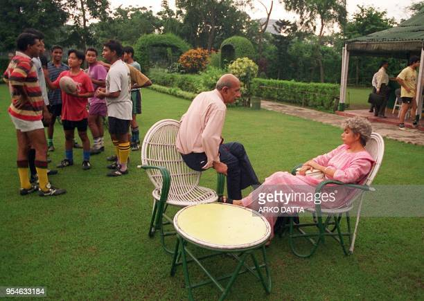 JUBILLE Young AngloIndians round off a rugger game with conversation at a club in Calcutta 08 July AngloIndians or people of mixed descent or Britons...