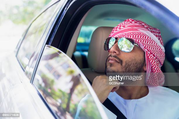 Young Arab enjoying his nature drive