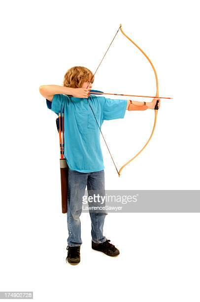 young archer - archery stock pictures, royalty-free photos & images