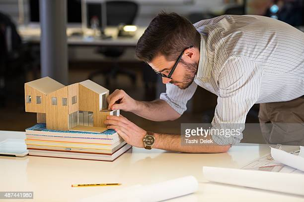 Young Architect Working Late